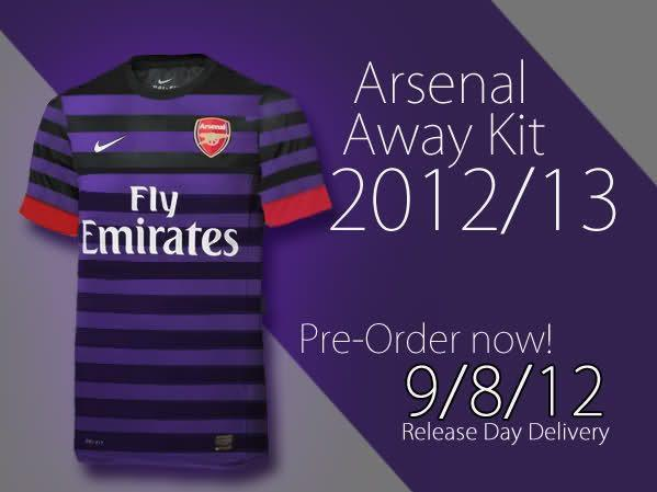 Arsenal away kit 2012-2013